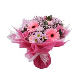 Mixed Pink Hand Tie (Florist Choice)