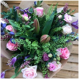 Pink and Green Mixed Bouquet (Florist Choice)