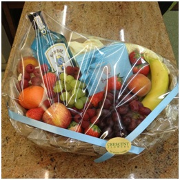 Fruit and Alcohol Basket