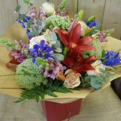 Deep Coloured Mixed Bouquet (Florist Choice)