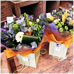 Aqua Boxed Bouquet (Florist Choice)