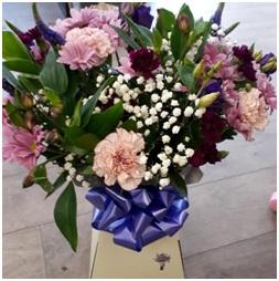 Pink and Purple Aqua Box (Florist Choice)