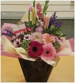 Tank Vase Arrangement (Florist Choice)