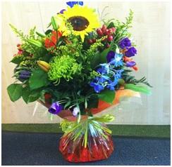 Bright Aqua Bouquet