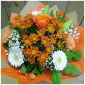 Florist Choice Bouquet (Seasonal,Orange if poss)