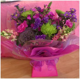 Pink Hand Tied Bouquet (Florist Choice)