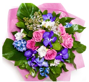 Pink, Purple and White (Florist Choice)