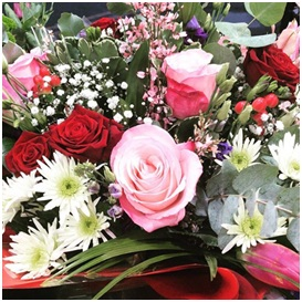 Red, Pink and White Bouquet (Florist Choice)