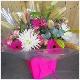 Pink and White Aqua Box (Florist Choice)