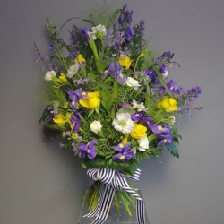Funeral Sheaf (Purple and White, Contact Florist to Discuss)