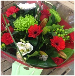 Red and Green Mixed Bouquet (Florist Choice)