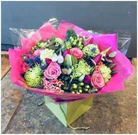 Pink Vibrant Mixed BQ (Florist Choice)