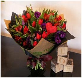 Red Mixed Bouquet (Florist Choice)
