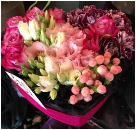 Pink Hat Box Arrangement (Florist Choice)