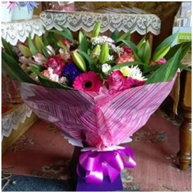 Pink and White HT (Florist Choice)