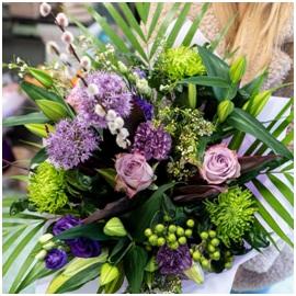 Purple Mixed Bouquet (Florist Choice)