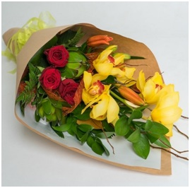 Florist Choice Red & Yellow Bouquet (From $67.50)