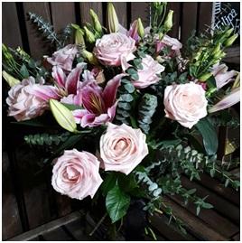 Pink Scent-Sation Hand Tie (Florist Choice)