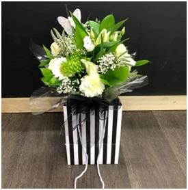 White Mixed Aqua Box (Florist Choice)