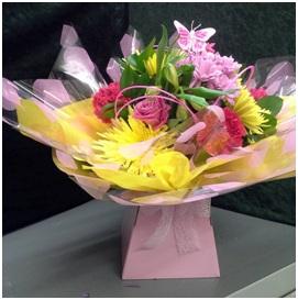 Pink Hand Tied Box (Florist Choice)