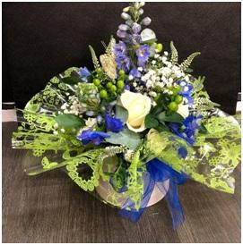 Seasonal Hat Box Arrangement (Florist Choice)