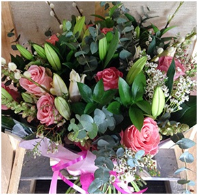 Roses, Varied Greenery & Seasonal Flowers (Florist Choice)