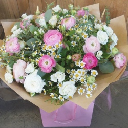 Pink and White Country Mixed Bouquet (Florist Choice)