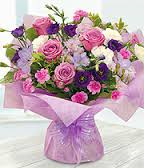 Purple and Lilac Handtie (Florist Choice)