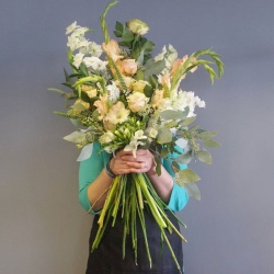 Neutral Tied Flowers