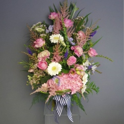Pink Tied Flowers