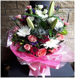 Pink and White Aqua (Florist Choice)