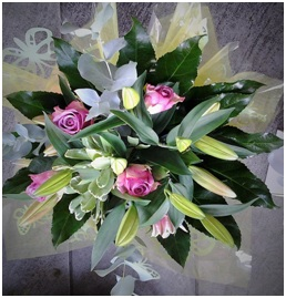 Rose and Lily Mixed Bouquet (Florist Choice)
