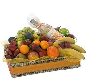 Fruit and Wine Basket