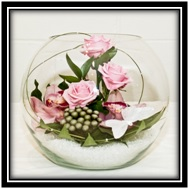 Rose and Orchid Fishbowl