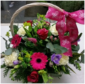 Basket in Pretty Pinks (Florist Choice)
