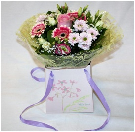 Pink and White Gift Bag (Florist Choice)