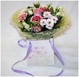 Pink and White Gift Bag