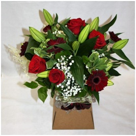 Red and White Hand Tie (Florist Choice)