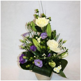 Rose, Lily and Lisianthus Arrangement