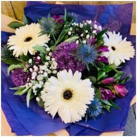 Florist Choice Bouquet (Purple and White Mix)