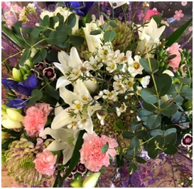 Pink, White and Purple Bouquet (Florist Choice)