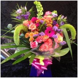 Exotic Looking Aqua Bouquet (Florist Choice)
