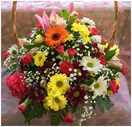 Bright Mixed Basket (Florist Choice)