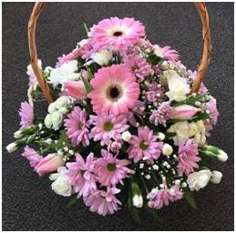 Pink Mixed Basket (Florist Choice)