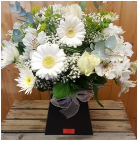 White and Cream Aqua (Florist Choice)