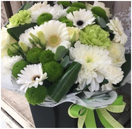 White Mixed Aqua Box (Florist Choice)
