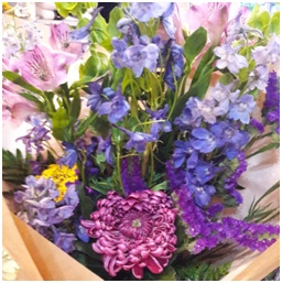 Purple and Pink Hand Tie (Florist Choice)