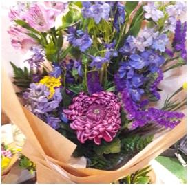 Gorgeous Purple Hand Tie (Florist Choice)