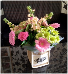 Soft Coloured Bouquet in a Bag