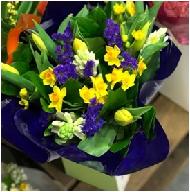 Yellow and Purple Mixed Bouquet (Florist Choice)
